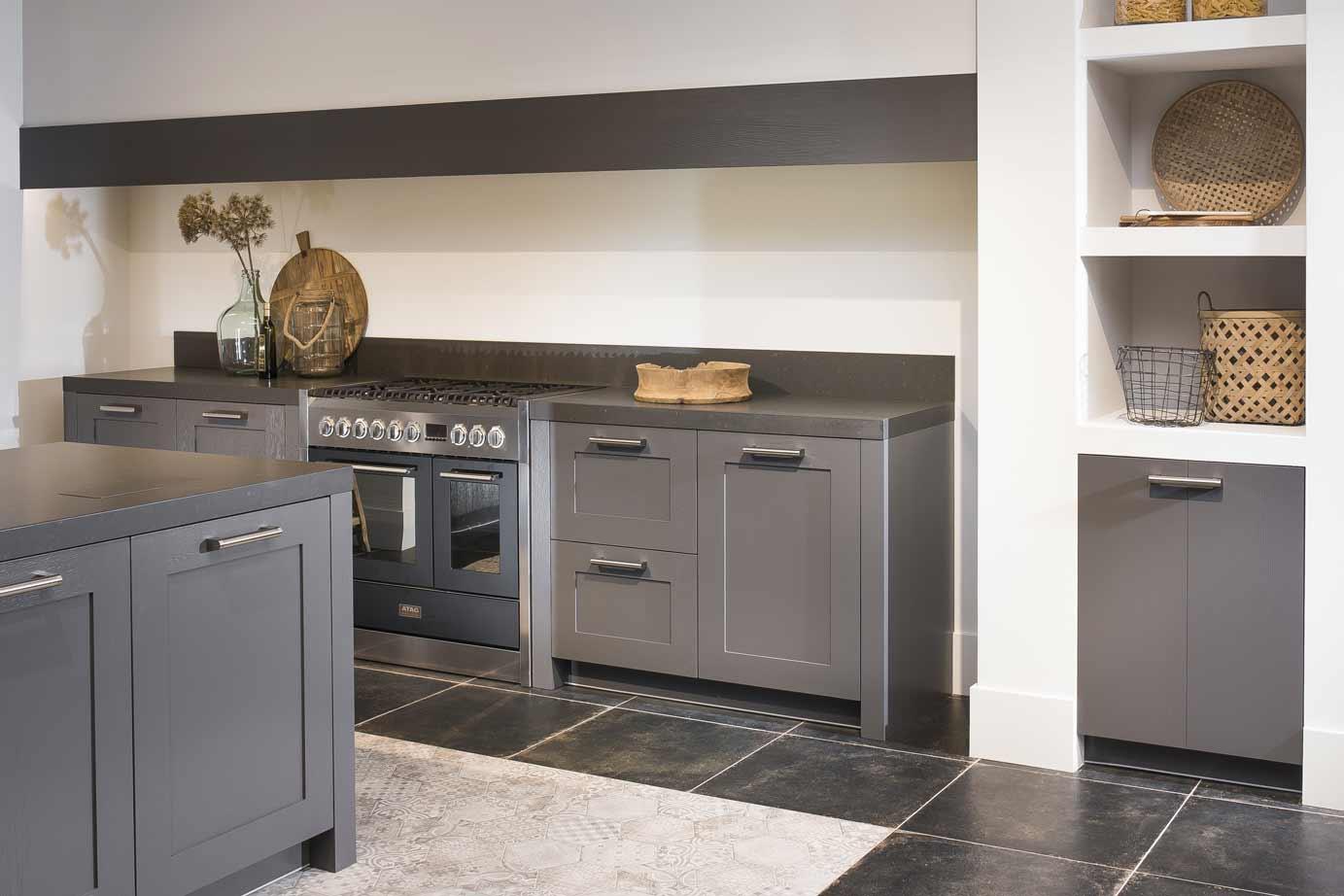 Moderne Keuken Grijs : Moderne keuken great moderne keuken in antraciet with moderne